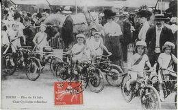 TOURS : Fête Du 14 Juin - Char Cyclistes Enfantin Bien Animé (1908) - Tours