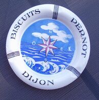 Rare Cendrier Ceramique Biscuits Pernot,no Boite,no Cpa - Advertising (Porcelain) Signs