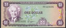 JAMAICA P64a 1 DOLLAR 1982 Signature 5 # FF   UNC. - Giamaica