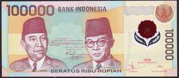 Indonesia 100000 100,000 Rupiah Polymer 1999 UNC - Indonesia