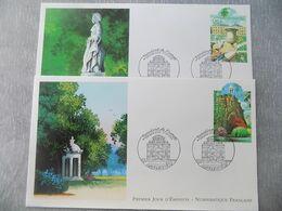 FDC (2) France 2003 : Parc Des Buttes Chaumont Et Jardin Du Luxembourg - 2000-2009