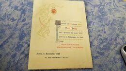 1887  1888 2 FAIRE PART NAISSANCE Meme Et Mr PAUL DENY Paris  Neuilly Sur Seine - Geboorte & Doop