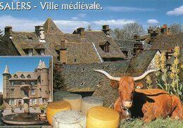 14 SALERS - Ville Médiévale, Fromage, Vache, Cloche - 30652 L - Editions VALOIRE-ESTEL - TBE - Recipes (cooking)