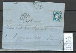 France - Lettre Ambulant - Brest à Paris - Mois à L'envers - 1875 - Correo Ferroviario