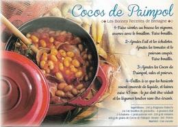 RECETTES DE CUISINE - LES BONNES RECETTES DE BRETAGNE - COCOS DE PAIMPOL - CPM - VIERGE - - Ricette Di Cucina