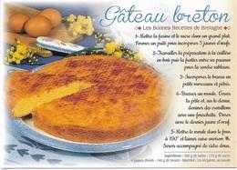 RECETTES DE CUISINE - LES BONNES RECETTES DE BRETAGNE - LE GATEAU BRETON - CPM - VIERGE - - Ricette Di Cucina
