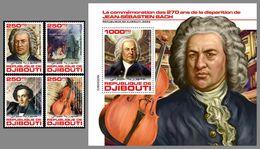 DJIBOUTI 2020 MNH Johann Sebastian Bach Composer Komponist Compositeur 4v+S/S - OFFICIAL ISSUE - DHQ2028 - Music