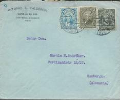 A1040  Equador  Brief 1929 N. Hamburg - Equateur
