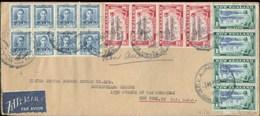 A1085  Neu Seeland Luftpost Brief 7 USA 1948 - Brieven En Documenten
