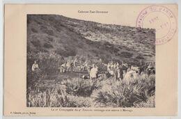 Colonne ZAER-ZEMMOUR (Maroc) - La 2e Compagnie Du 4e Zouaves Aménage Une Source à Merzaga Cachet Campagne Militaire 1907 - Otros