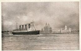 Rare Cpa RMS Aquitania - Dampfer