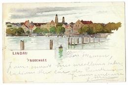 ZÜRICH  ---  LINDAU  IM  BODENSEE  --- ( Cachet 1898 ) - ZH Zurich