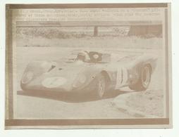 MONZA ITALY 24 APRILE 1969  MARIO ANDRETTI ON A FERRARI PICTURED AT MONZA AUTODROME  ...... CM.14X10 - Coches