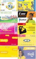 14 Télécartes AFRIQUE Lot1 - Phonecards