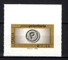 ITALIA - 2007 - POSTA PRIORITARIA - € 1,50 - AUTOADESIVO - 6. 1946-.. Republic