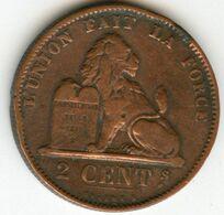 Belgique Belgium 2 Centimes 1876 Français KM 35.1 - 1865-1909: Leopold II