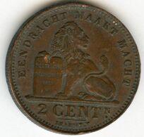 Belgique Belgium 2 Centimes 1902 Flamand KM 36 - 02. 2 Centesimi