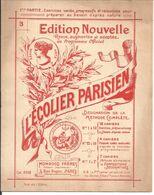 CAHIER DE DESSIN . L'ECOLIER PARISIEN . No 3 .. MONROCQ FRERES .. EDITEUR IMPRIMEURS - Animals