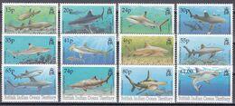 Tr_ Brit. Territorium Im Indischen Ozean 1994 - Mi.Nr. 158 - 169 - Postfrisch MNH - Tiere Animals Fische Fishes - Fishes