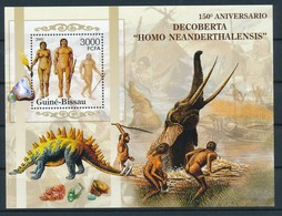 D - [400427]TB//**/Mnh-Guiné-Bissau 2007 - Homme De Néandertal, Les Dinosaures, Minéraux - Prehistóricos