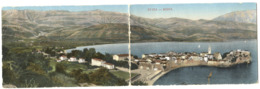 Budva Montenegro Double Panorama Postcard C. 1908 - Montenegro