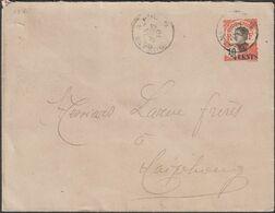 Indochine 1919. Entier Postal Enveloppe EN43a, 4 Cents Papier Grisâtre, Millésime 813 - Briefe U. Dokumente
