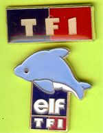 2 Pin's Médias TF1 & Elf TF1 - 3C21 - Mass Media