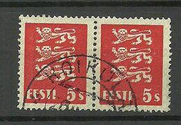 ESTLAND Estonia 1928 O KOIKKÜLA Michel 77 As Pair - Estland