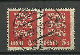 ESTLAND Estonia 1933 O KEENI Michel 77 As Pair - Estland