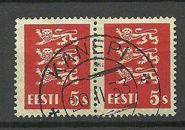 ESTLAND Estonia 1933 O KANEPI Michel 77 As Pair - Estland