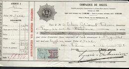 Prime D'Assurance Compagnie Du Soleil Pour Pau Du 13 Juillet 1921 - Banca & Assicurazione