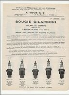 FEUILLE   BOUGIES   GILARDONI      F.VIGUIE  &  CIE   PARIS - Unclassified