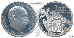 España   Medalla  Francisco Franco 1892-1975 / 1 Onza De Plata - Other