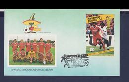 Nanumaga-Tuvalu FDC 1986 FIFA World Cup In Football Mexico (G112-59) - World Cup