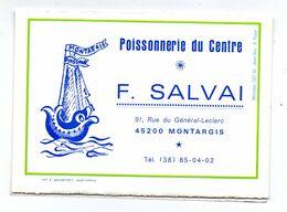 Calendrier Montargis Poissonnerie Salvai Rue Leclerc 1979 - Petit Format : 1941-60