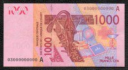 1000F CFA 2003 N°000000000 CÔTE D'IVOIRE - Costa D'Avorio
