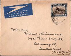 ! Brief 1935, Cover, Südafrika Nach Hamburg. Air Mail, Flugpost, Par Avion, South Africa - Posta Aerea