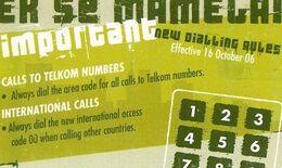 """SOUTH AFRICA Used Phonecard/ Gebruiklte Telefoonkaart """"EK SE MAMELA ! (GREEN)"""" - Südafrika"""