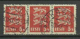 ESTLAND Estonia 1932 O PIKASILLA Michel 77 As 3-stripe - Estland