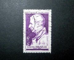 FRANCE 1948 N°793 OBL. (LOUIS BRAILLE. 6F + 4F VIOLET) - Gebruikt