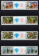 1979 USSR Mi# 4878-81 International Year Of The Child MNH ** P11x3 - Nuevos