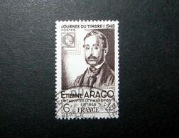 FRANCE 1948 N°794 OBL. (JOURNÉE DU TIMBRE 1948. ÉTIENNE ARAGO. 6F + 4F SÉPIA) - Gebruikt