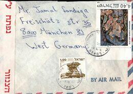 ! Israel , München, Airmail Letter, 1978 Luftpostbrief, Zensur, Censure, Censor - Poste Aérienne