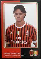 INZAGHI MILAN Football Player Carte Postale - Fussball