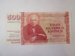Iceland 500 Kronur 2001 Banknote UNC - Islanda