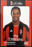 RONALDINHO MILAN Football Player Carte Postale - Fútbol