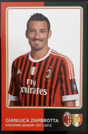 ZAMBROTTA MILAN Football Player Carte Postale - Fussball