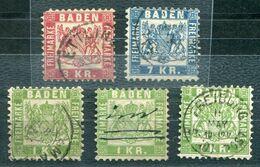 F0493 - ALTDEUTSCHLAND-BADEN - Mi.Nr. 23 (3), 24 (II.Wahl) Und 25 - Bade