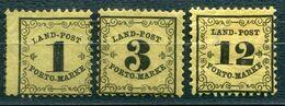 F0494 - ALTDEUTSCHLAND-BADEN - Landpost 1-3 - 1+2 Ohne Gummi, 3 Mit Falz Aber Fenster - Bade