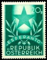 """Austria Autriche Österreich 1949: """"ESPERANTO"""" Michel-No. 935 ** Postfrisch MNH (Michel 1.20 Euro) - Esperanto"""